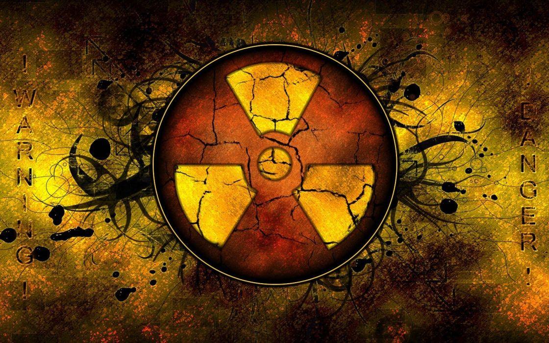 nuclear signs radioactive logos area wallpaper
