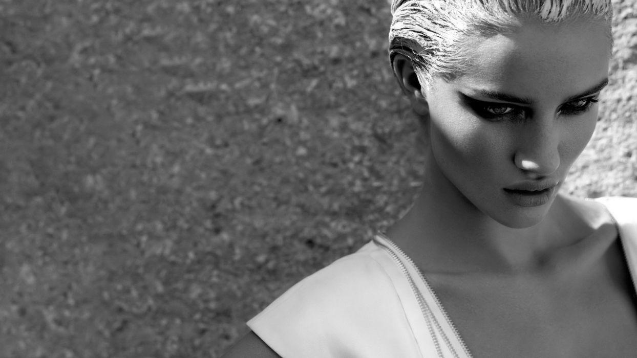 blondes women celebrity monochrome wallpaper