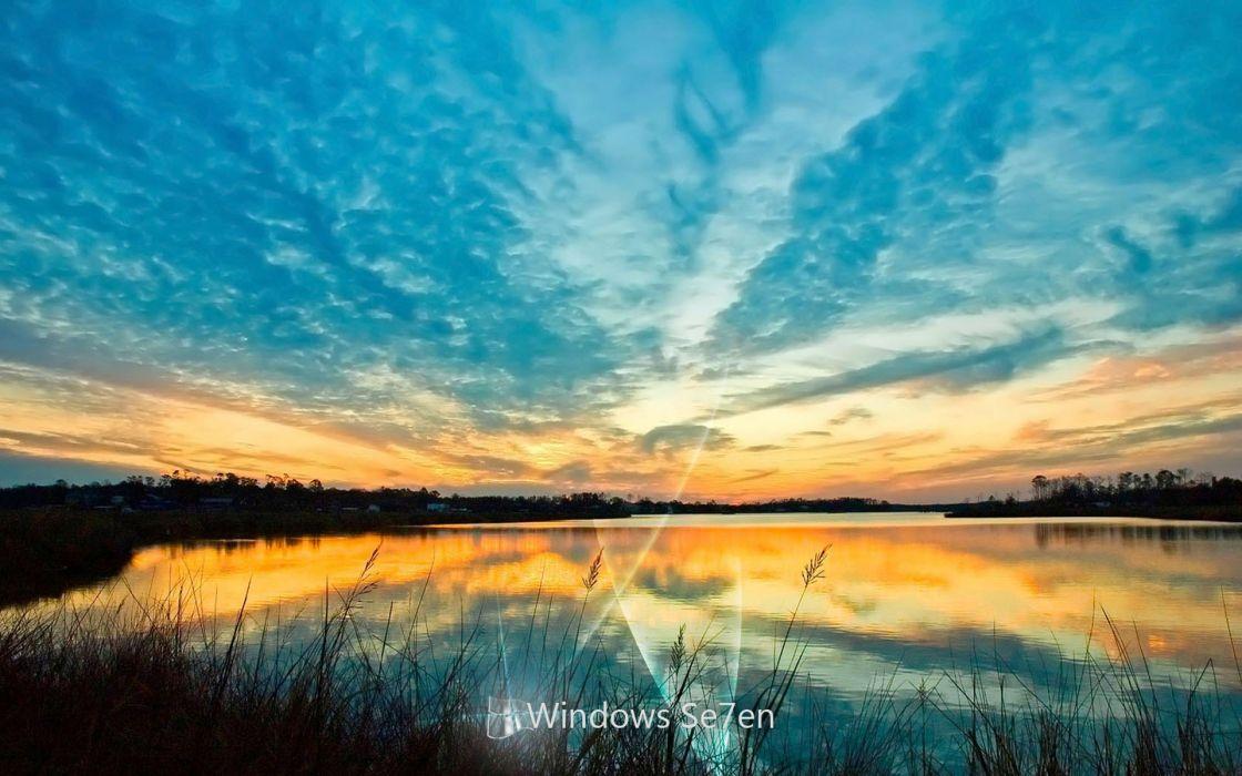 landscapes nature Windows 7 Microsoft skyscapes wallpaper