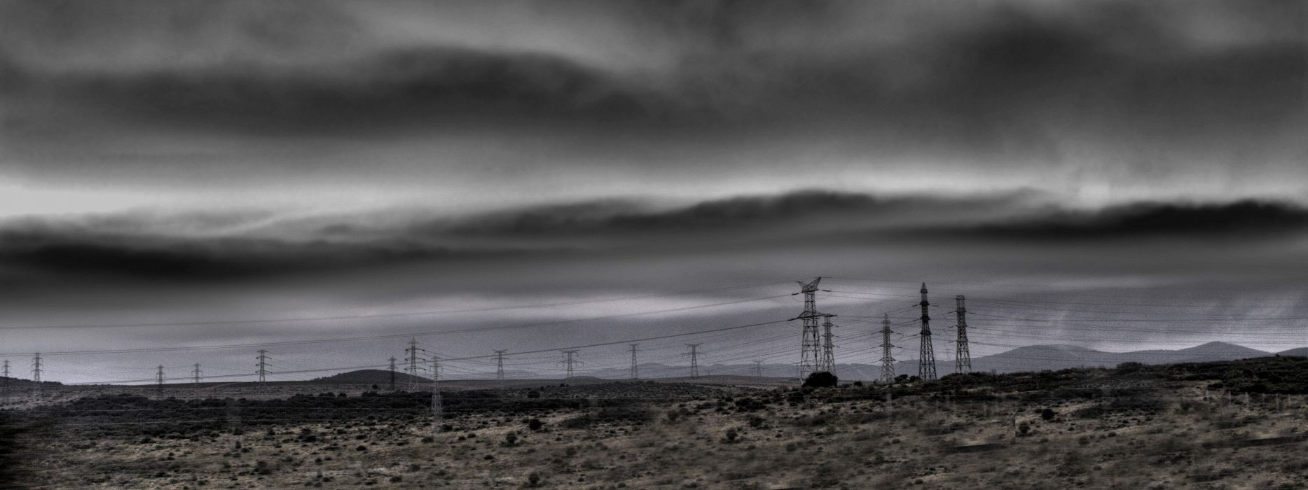 skylines duel electric power lines wallpaper