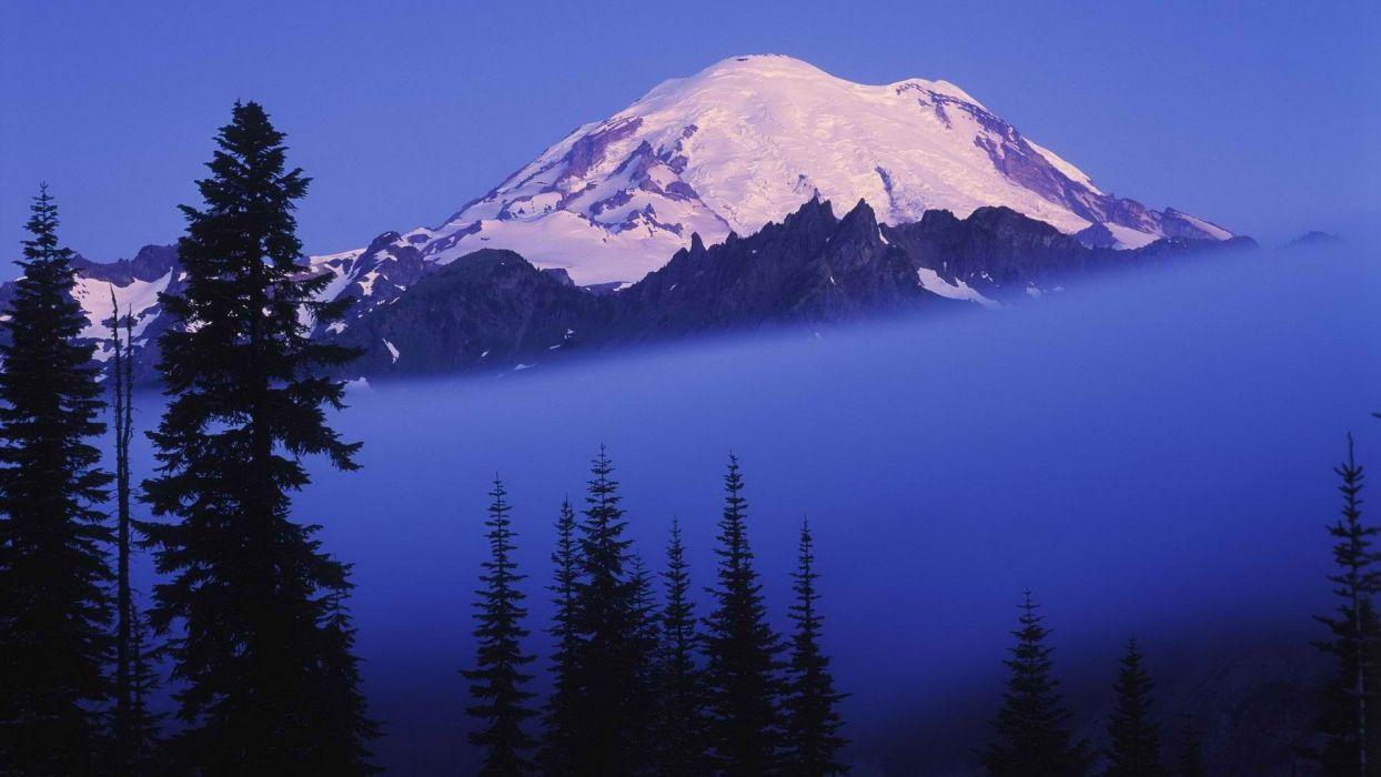 fog Washington Mount wallpaper