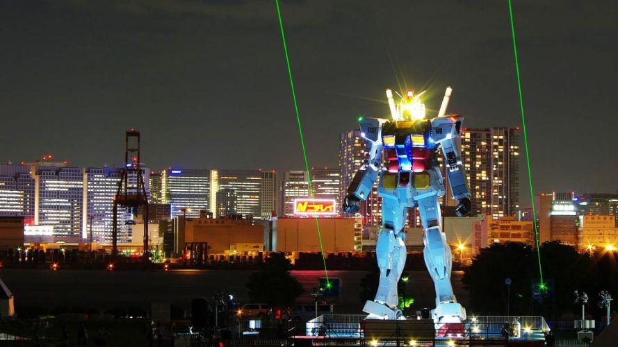 Tokyo Gundam night wallpaper