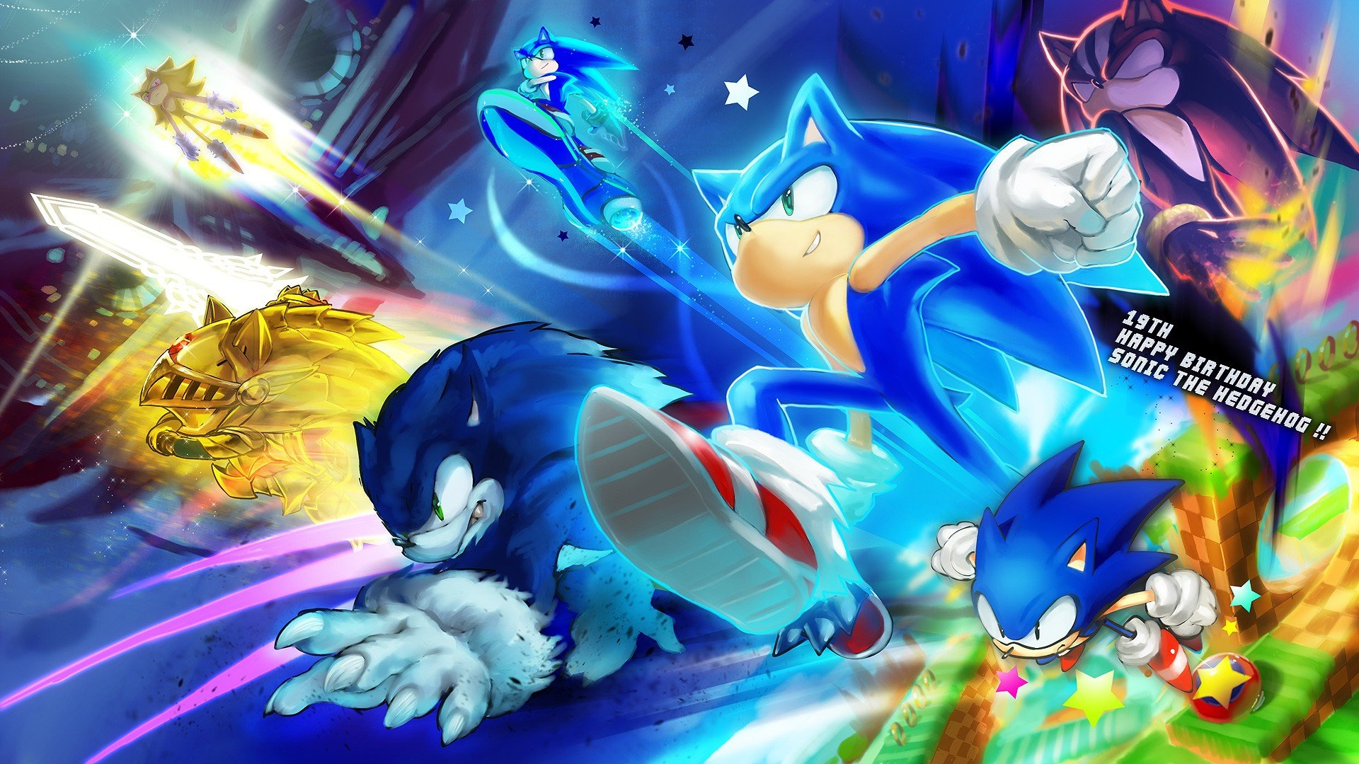 Sonic The Hedgehog Sonic Happy Birthday Wallpaper 1920x1080 297604 Wallpaperup