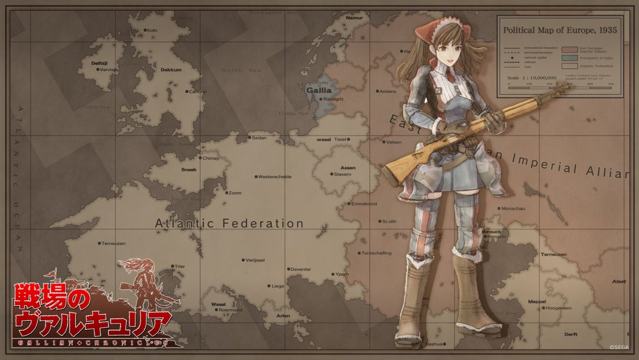 maps anime girls Melchiott Alicia Valkyria Chronicles wallpaper
