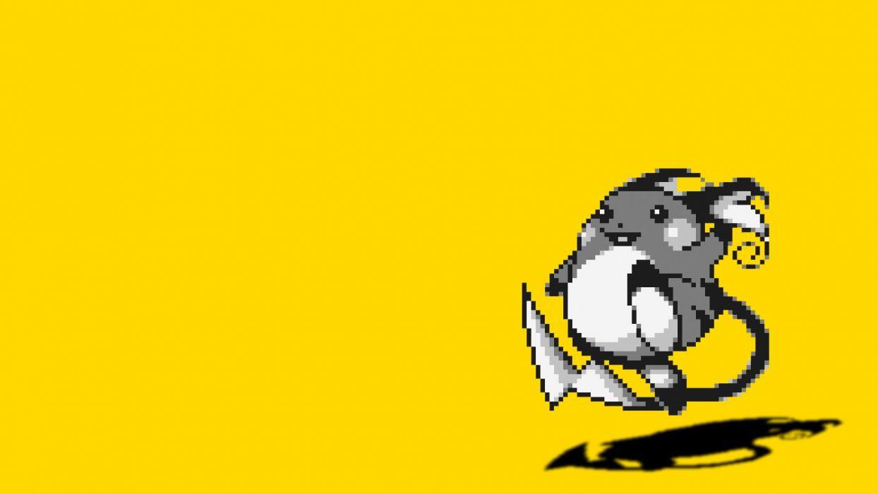 Pokemon yellow Raichu simple background wallpaper