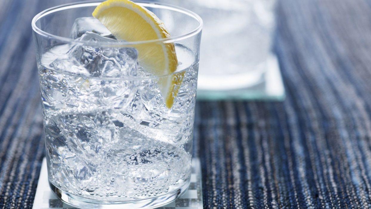 glass cocktail gin tonic drinks lemons wallpaper