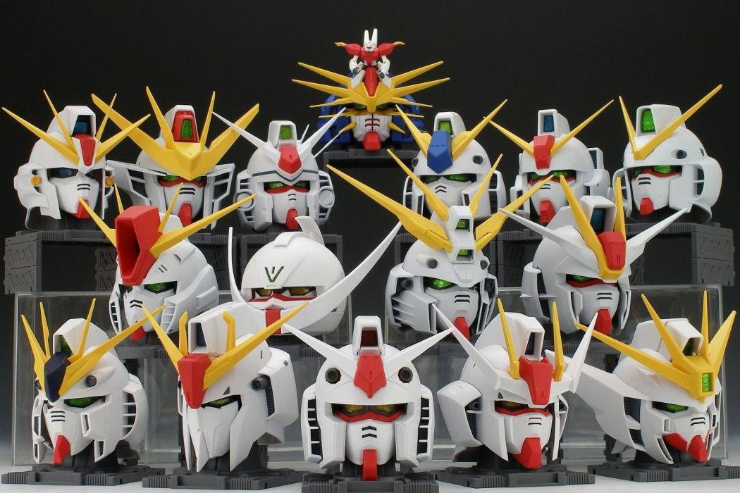 Gundam helmets wallpaper