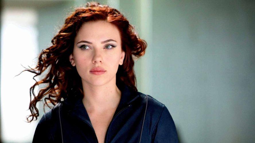 women Scarlett Johansson actress redheads Black Widow Iron Man 2 wallpaper