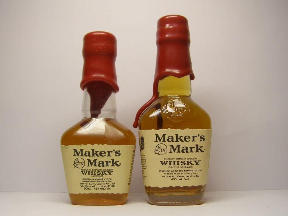bottles alcohol whiskey liquor white background Maker's Mark bourbon wallpaper