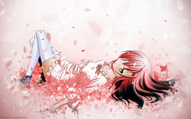 Hayate no Gotoku long hair Katsura Hinagiku pink hair thigh highs yellow eyes blush anime anime girls sundress wallpaper