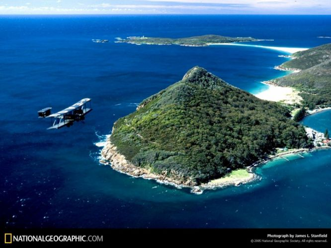 National Geographic islands biplane aerial photography aerial view wallpaper