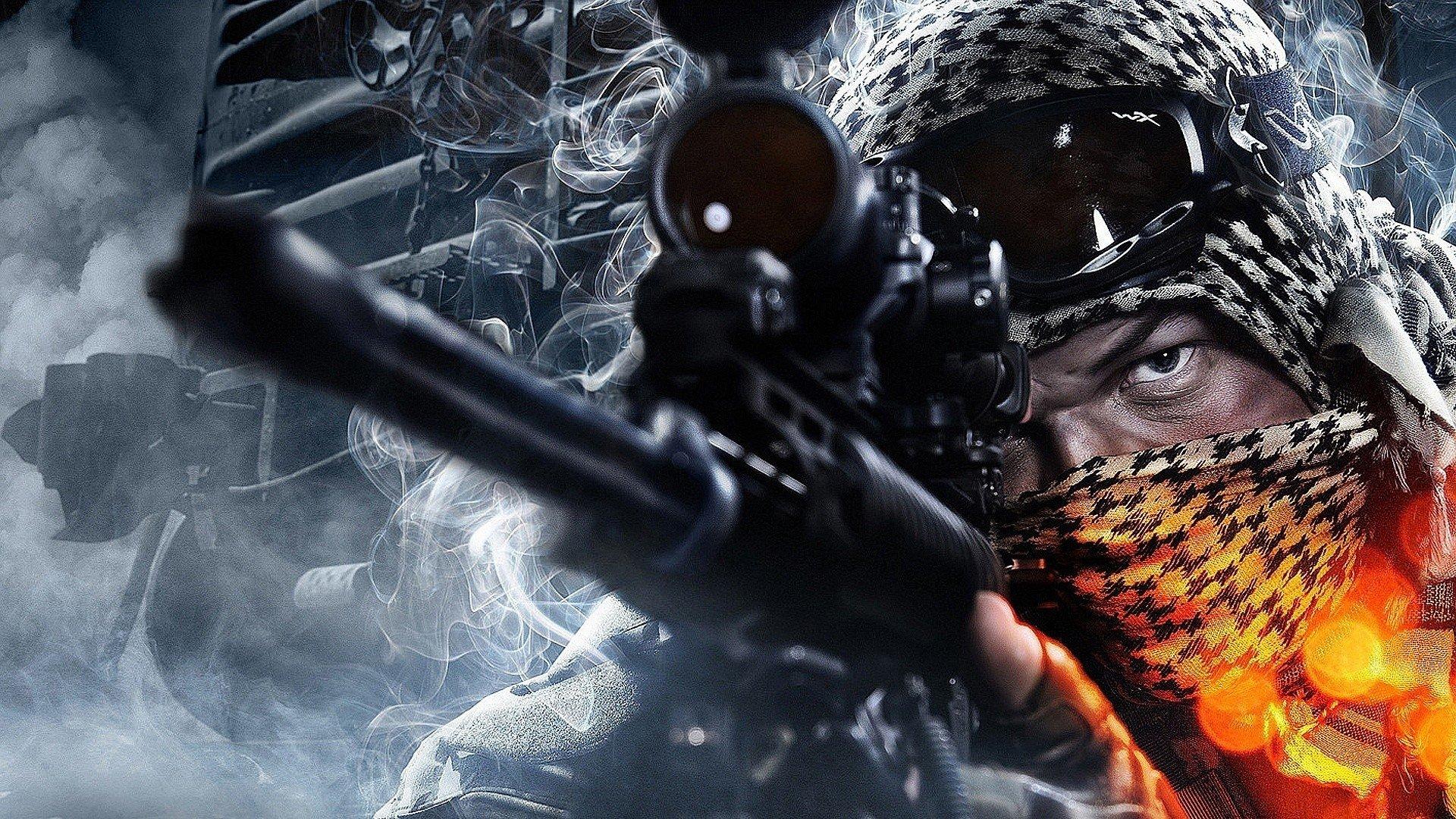 Close-up Battlefield 3 Sniper Guy Game Mk11 Mod0 Wallpaper
