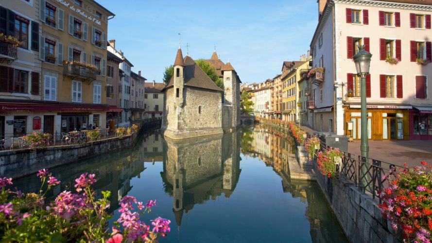 old France towns Annecy wallpaper