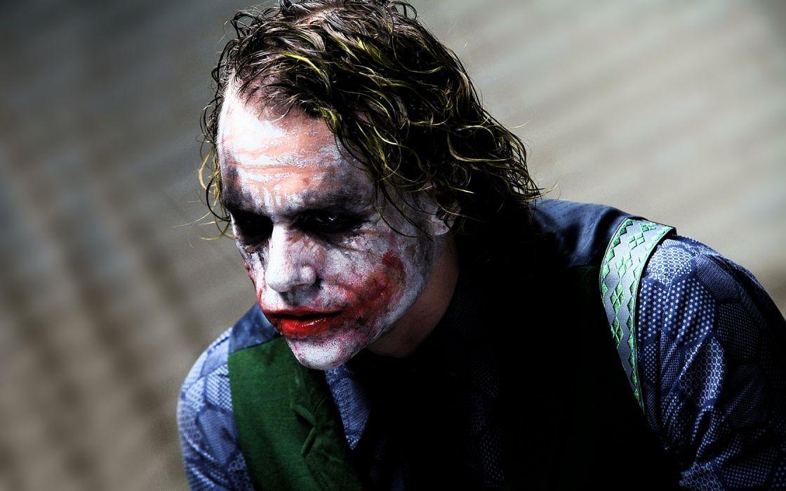 The Joker Heath Ledger The Dark Knight wallpaper