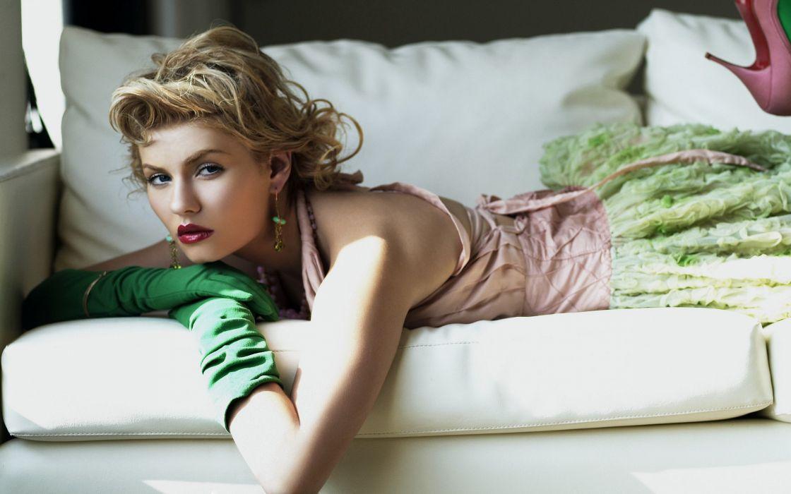 blondes women Elisha Cuthbert dress wallpaper