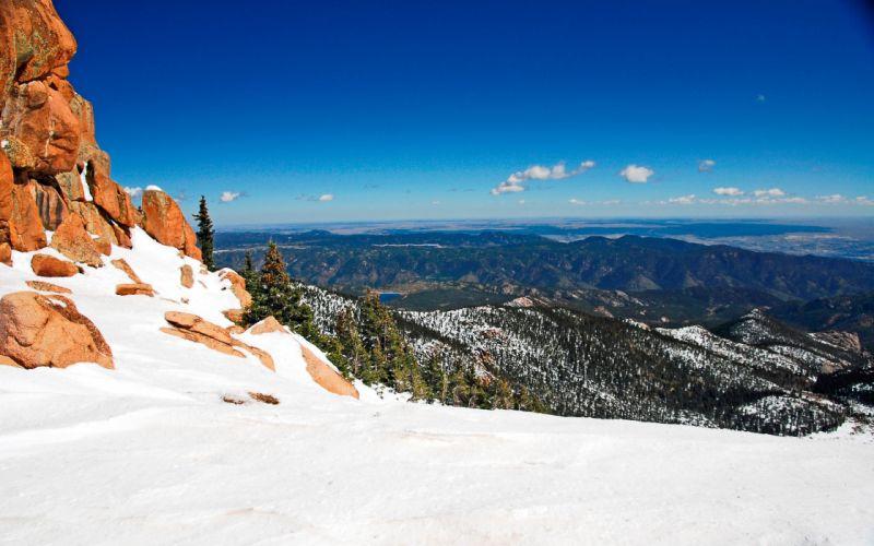 mountains landscapes nature snow wallpaper