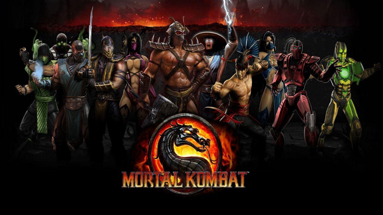 video games scorpion Mortal Kombat reptile Sub-Zero Liu Kang Raiden Mileena Kitana Shao Kahn Cyrax Sektor conical hats wallpaper
