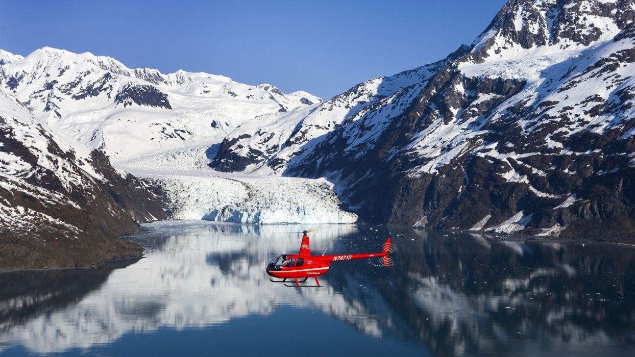 helicopters Alaska college vehicles census fjord wallpaper