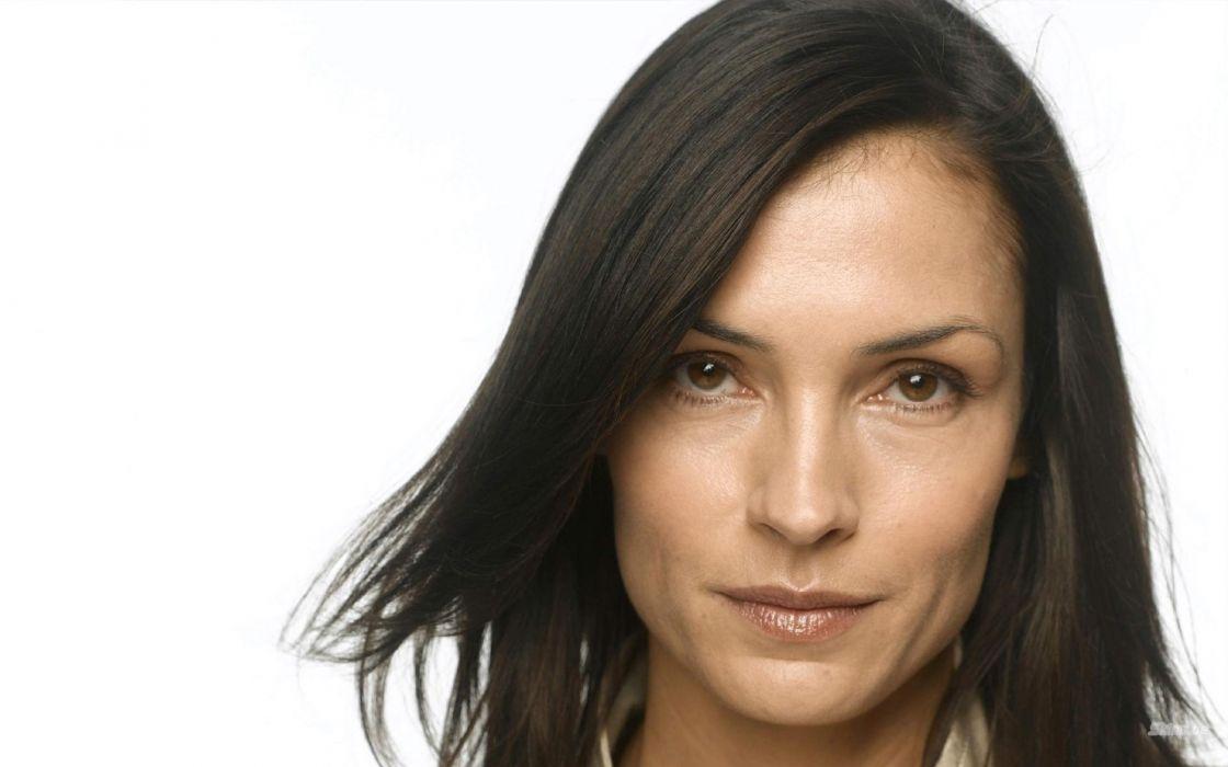 women actress Famke Janssen faces white background wallpaper