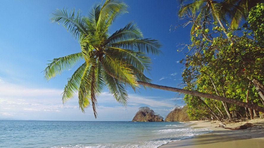 landscapes nature Palm Island beaches wallpaper