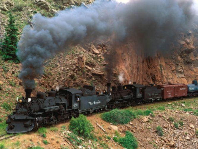 vintage Colorado Steam train wallpaper