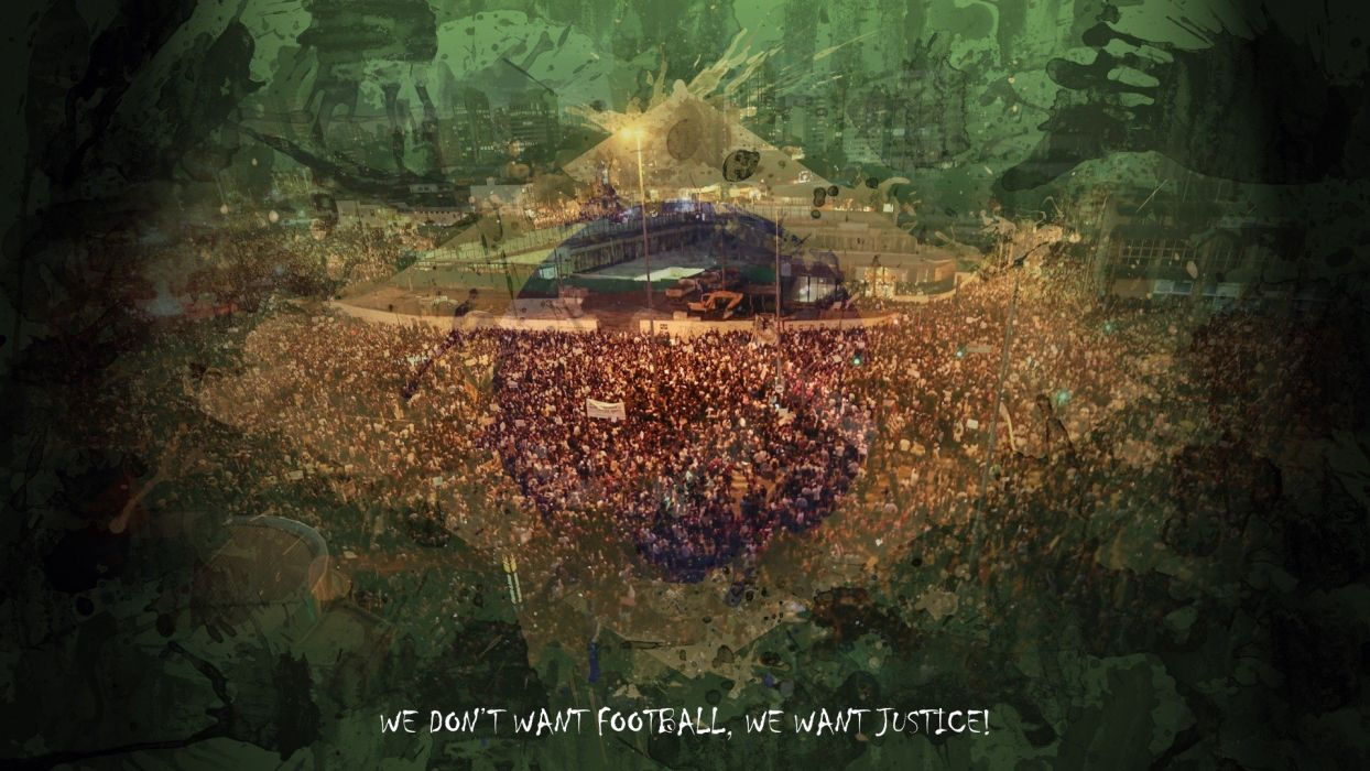 quotes flags Brazil protest digital art government message Brazil Soccer wallpaper