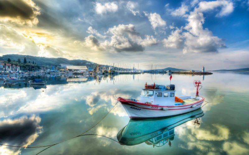 boats Turkey kayak sea shorelines sea wallpaper