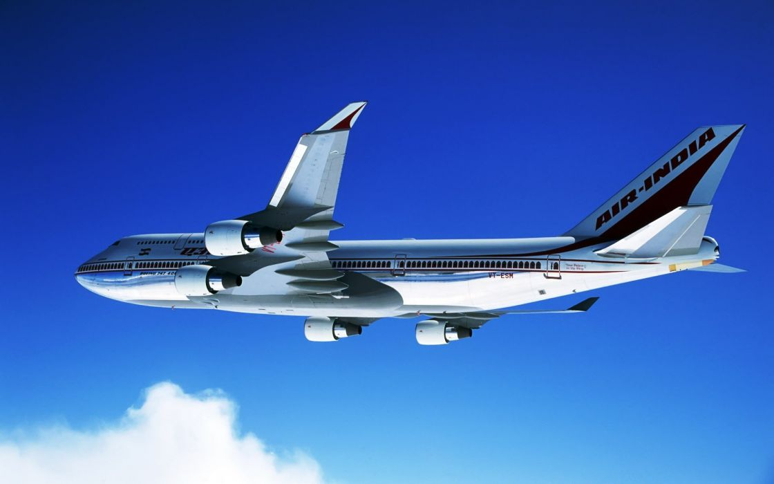 aircraft military aviation Indian Boeing 747-400 wallpaper