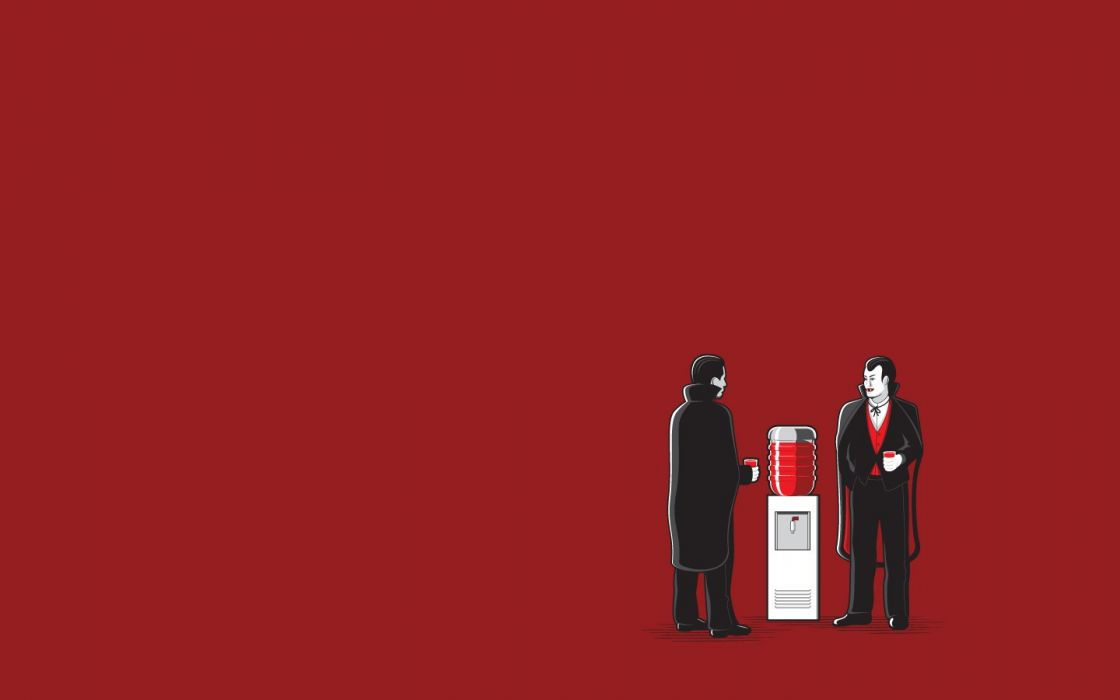 minimalistic blood vampires wallpaper