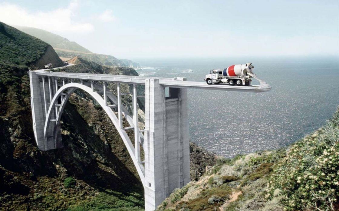 bridges digital art artwork wallpaper