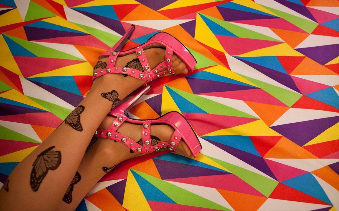 women feet pantyhose high heels wallpaper