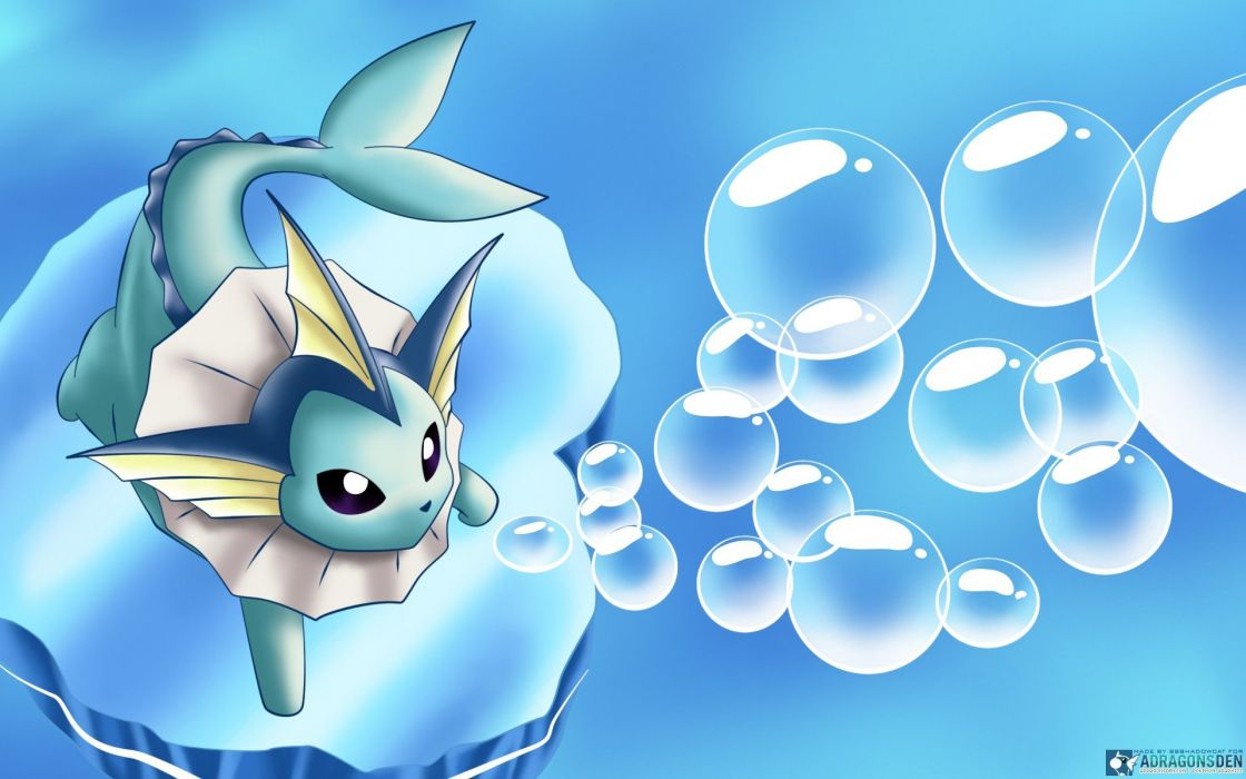 Nintendo water Pokemon video games Vaporeon serie wallpaper