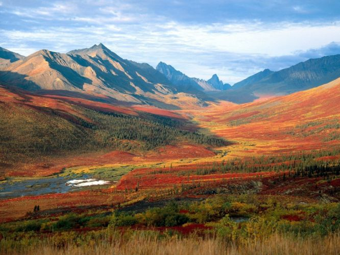mountains landscapes valleys north Canada tombstones Mount wallpaper