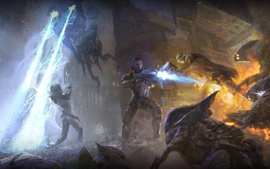 Mass Effect fantasy art wallpaper