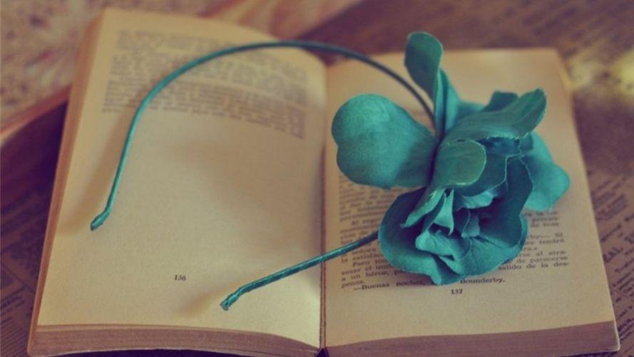 flowers books wallpaper