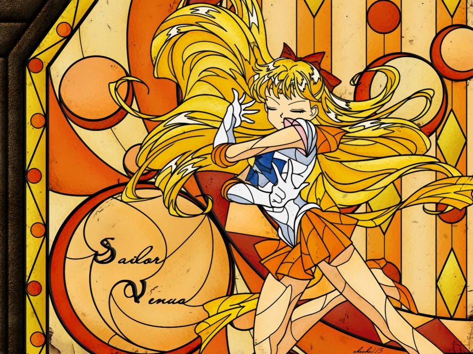 Sailor Venus sailor uniforms Bishoujo Senshi Sailor Moon wallpaper