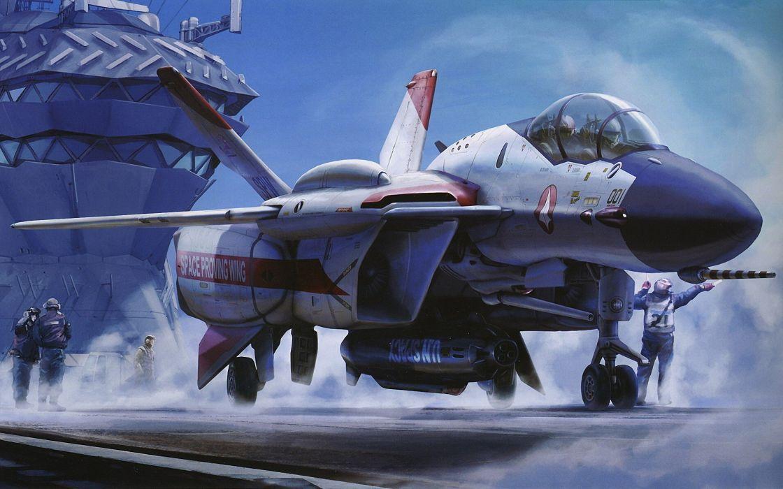 aircraft Macross artwork wallpaper