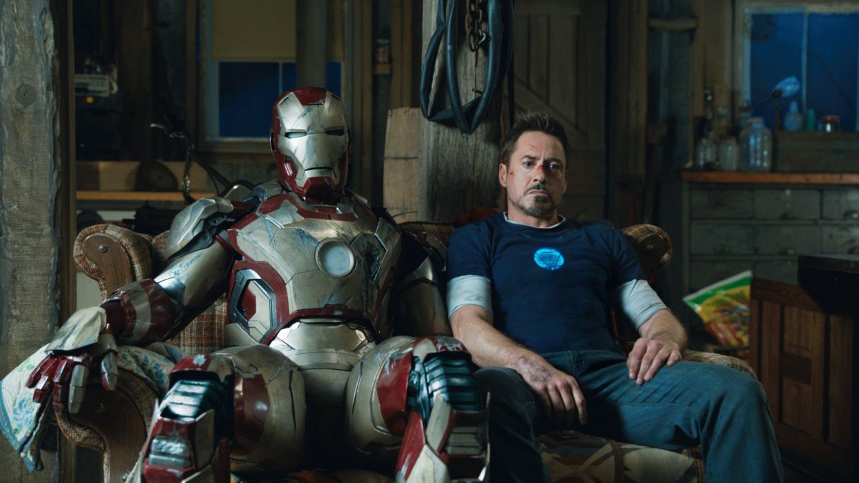 Tony Stark Robert Downey Jr Iron Man 3 wallpaper