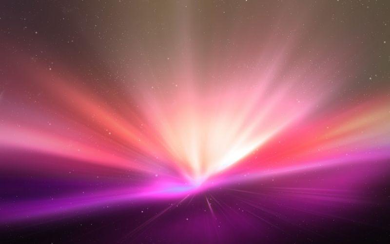 abstract minimalistic pink Mac aurora borealis wallpaper