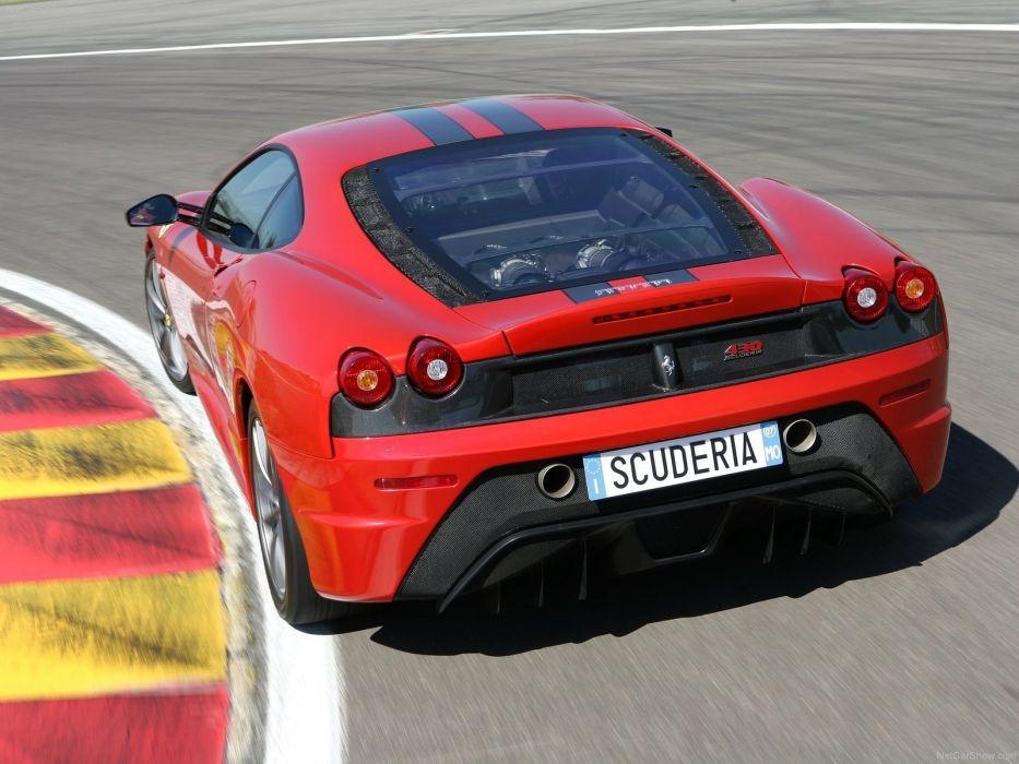 red cars Ferrari F430 Scuderia wallpaper