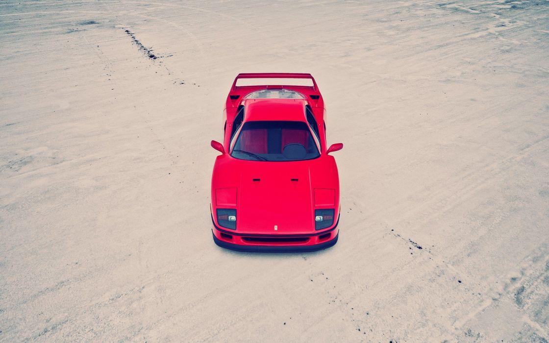 cars vehicles Ferrari F40 wallpaper