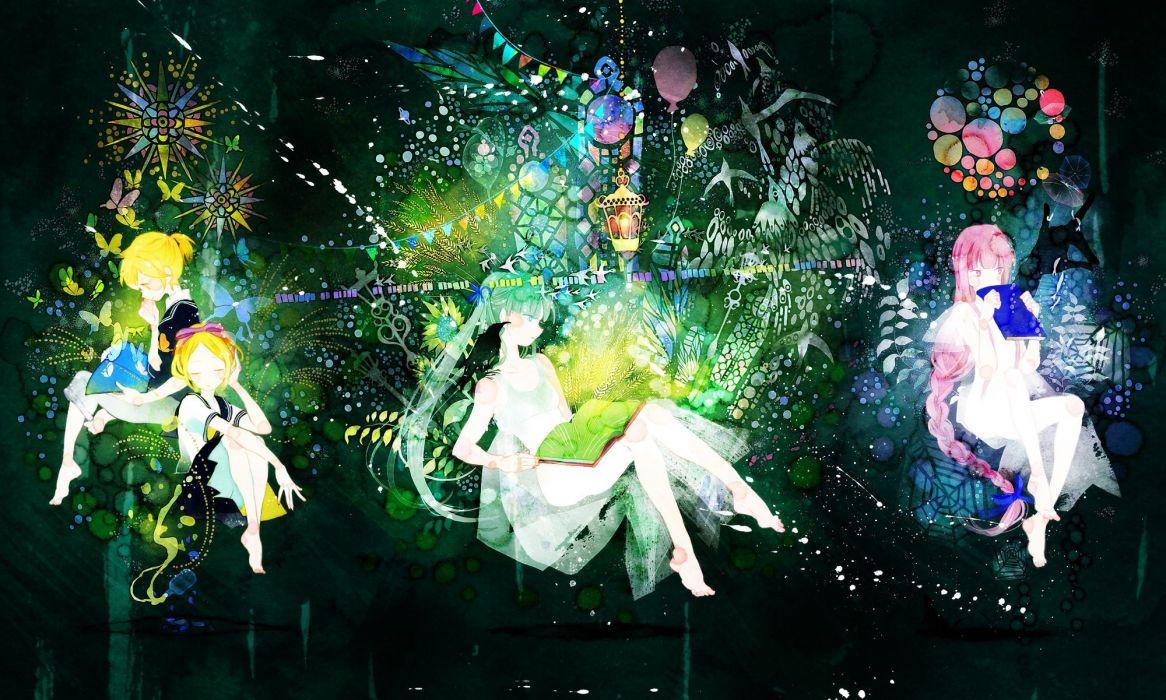 Vocaloid dress Hatsune Miku Megurine Luka Kagamine Rin Kagamine Len anime boys anime girls wallpaper