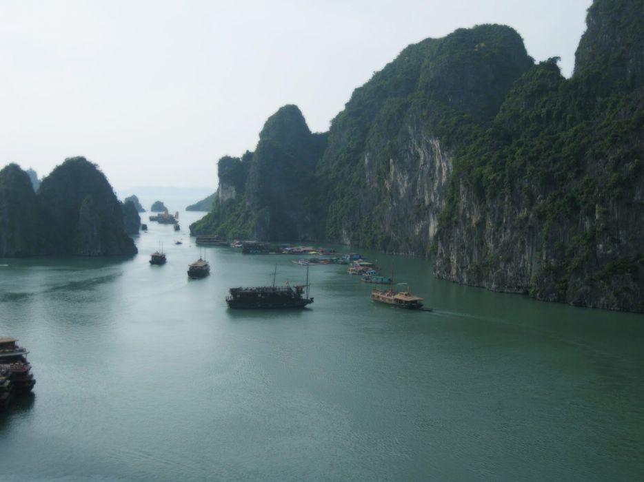 landscapes nature Viet Nam bay Ha Long Bay sea HalongBay wallpaper