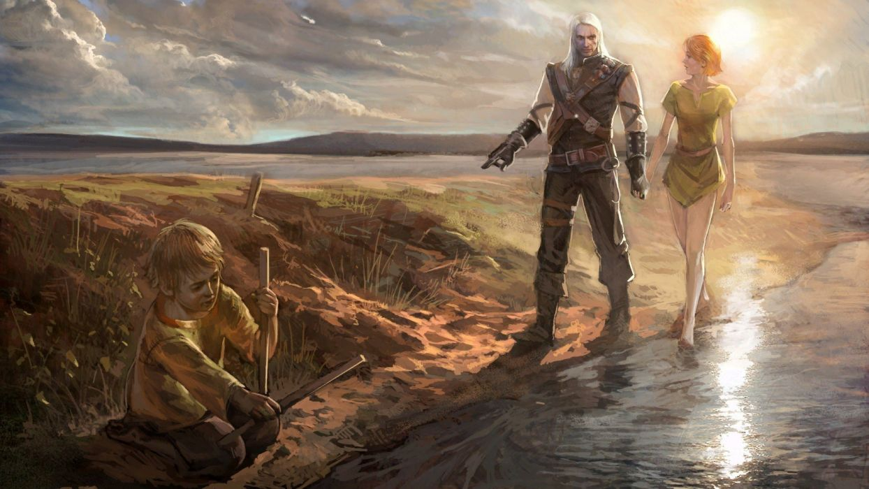 video games RPG The Witcher fantasy art artbook artwork Geralt of Rivia The Witcher 2: Assassins of Kings swords anjey sapkovsky pc games wallpaper
