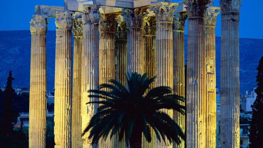 Greece Athens temples Zeus wallpaper