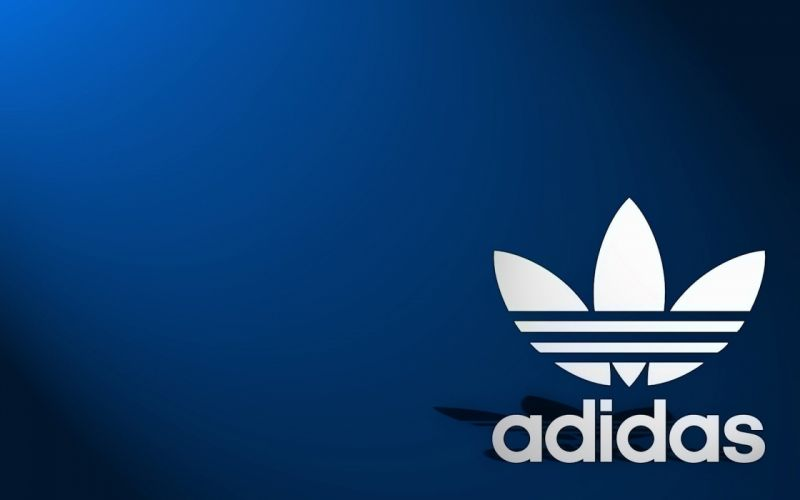 sports Adidas oldschool brands logos blue background wallpaper