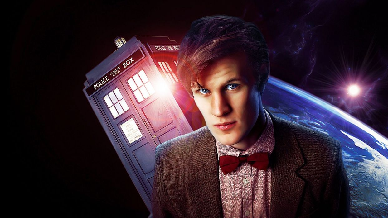 TARDIS Matt Smith Eleventh Doctor Doctor Who wallpaper
