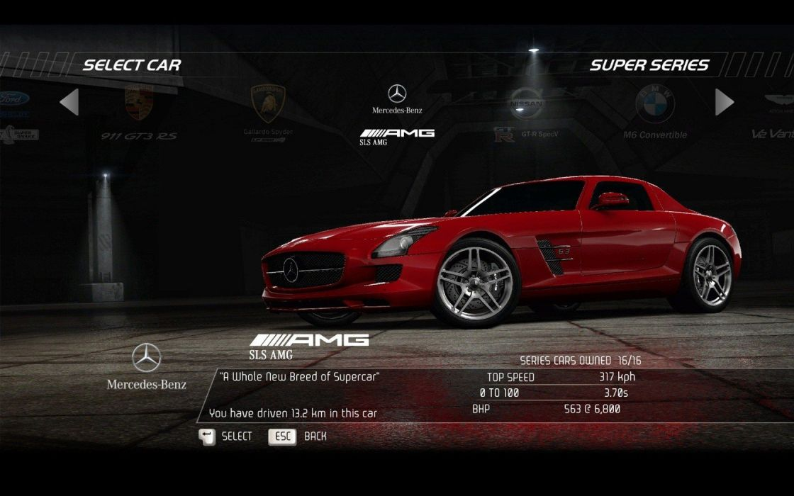 video games cars Need for Speed Hot Pursuit Mercedes-Benz pc games Mercedes-Benz SLS AMG E-Cell wallpaper