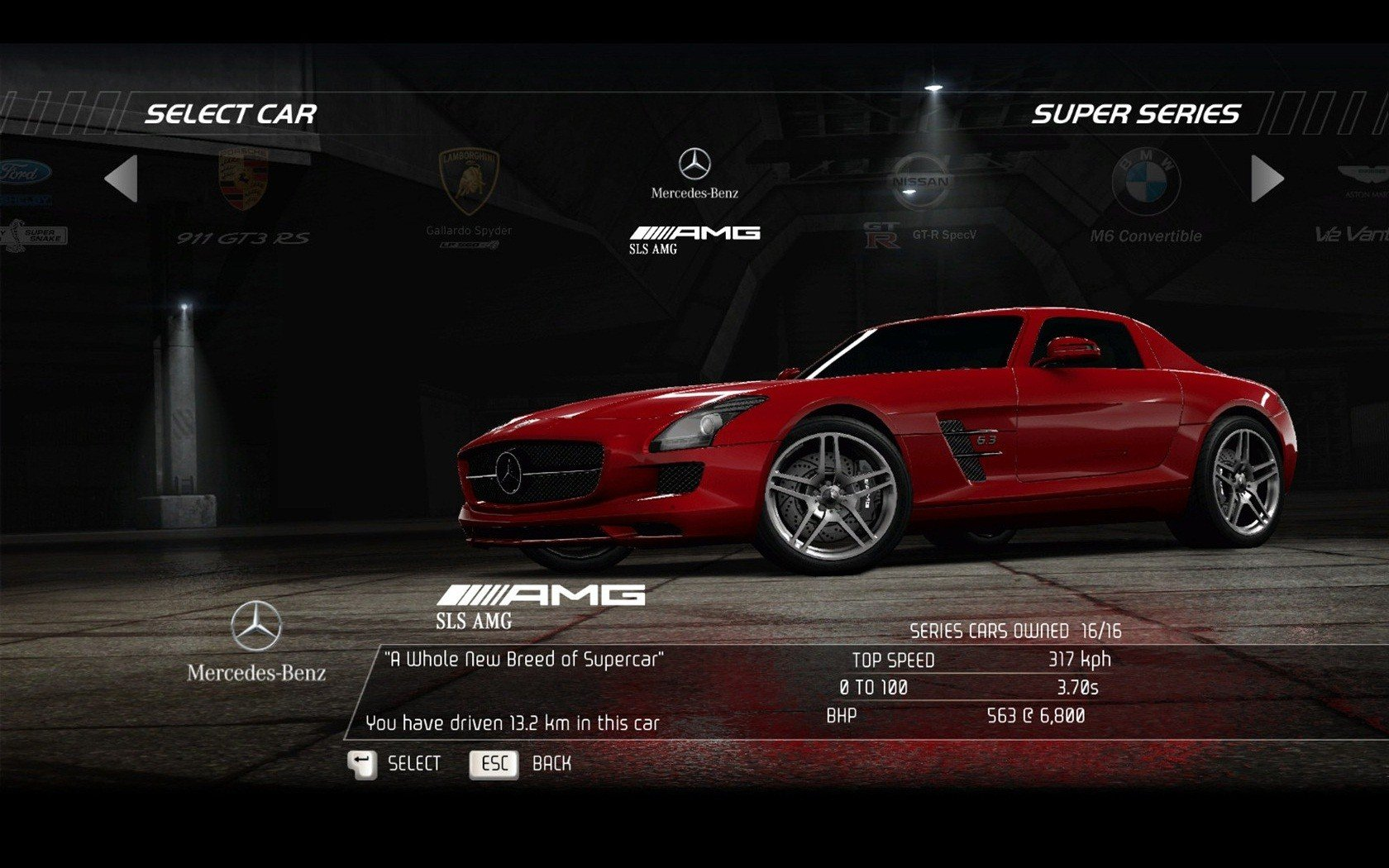 Video games cars need for speed hot pursuit mercedes benz for Mercedes benz games