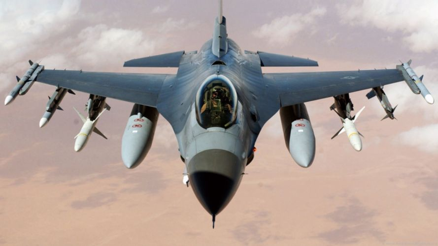aircraft military F-16 Fighting Falcon wallpaper